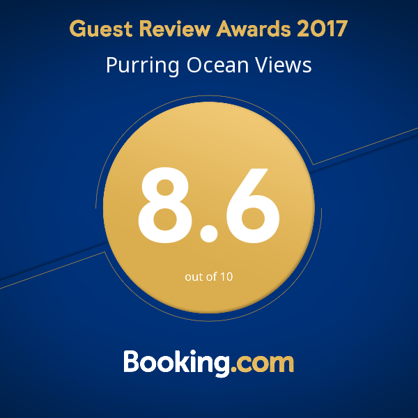 Gest Review Awards 2017 for Ocean Purring Views : 8,6 on Booking.com